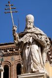 Pope Saint Sylvester. Saint Sylvester, Basilica of Saint Sylvester the First San Silvestro in Capite in Rome, Italy Royalty Free Stock Photography