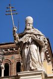 Pope Saint Sylvester. Saint Sylvester, Basilica of Saint Sylvester the First San Silvestro in Capite in Rome, Italy Stock Image