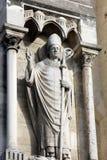 Pope statua na Notre paniusi katedrze, Paryż Obraz Royalty Free