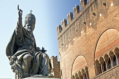 pope statua s Zdjęcia Royalty Free