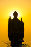 Pope Statue Silhouette Royalty Free Stock Photography