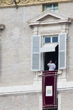 The pope, vatican city. The pope from his balcony, vatican city, rome, italy Royalty Free Stock Image