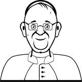 Pope vector. Simplistic artwork illustration Royalty Free Stock Images