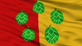 Poperinge miasta flaga, Belgia, zbliżenie widok Ilustracji