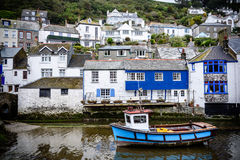 Popero Cornwall England. Polperro in Cornwall One of the most popular places in Cornwall South west of England. It is an unspoilt fishing and  one of the Royalty Free Stock Photo