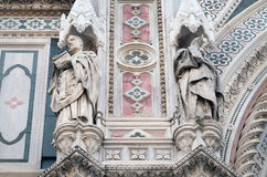 Popes Callixtus I and Celestine I, Portal of Florence Cathedral Royalty Free Stock Photo