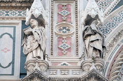 Popes Callixtus I and Celestine I, Portal of Florence Cathedral Royalty Free Stock Photography