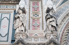 Popes Callixtus I and Celestine I, Portal of Florence Cathedral Stock Images