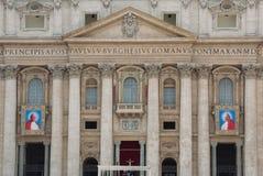 Popes John XXIII i John Paul II Kanonizować Obrazy Royalty Free