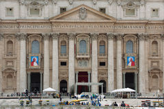 Popes John XXIII i John Paul II Kanonizować Obrazy Stock