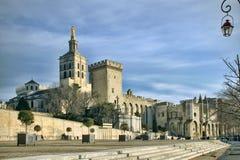 Popes'nas Slott i Avignon, Frankrike Fotografering för Bildbyråer