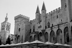 Popes Palace in Avignon Stock Photos