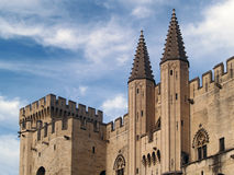 The Popes' Palace in Avignon, France. UNESCO world Heritage site Stock Photo