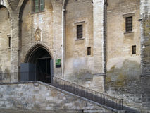 The Popes' palace in Avignon, France Stock Images