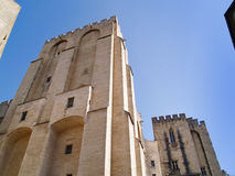 Popes' palace in Avignon, France. The Popes' palace in Avignon, France Royalty Free Stock Photo