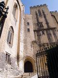 The Popes' palace in Avignon, France. The Entrance in the Popes' palace in Avignon, France Stock Image