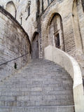 The Popes' Palace in Avignon, France. Stairway of The Popes' Palace in Avignon, France Stock Photography