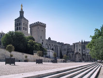 Popes' Palace in Avignon, France. Splendid gothic Popes' Palace in Avignon, France Stock Photography