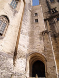 Popes' palace in Avignon, France Royalty Free Stock Images