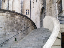 The Popes' Palace in Avignon, France. Stairway of The Popes' Palace in Avignon, France Royalty Free Stock Photo
