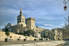 The Popes' Palace in Avignon, France. Splendid gothic Popes' Palace in Avignon, France Stock Image