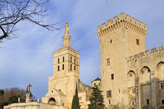 The Popes' Palace in Avignon, France Royalty Free Stock Photo
