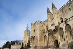 The Popes' Palace in Avignon, France Royalty Free Stock Photography
