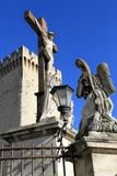 Popes Palace in Avignon, France Royalty Free Stock Photos