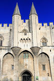 Popes Palace in Avignon, France Stock Images