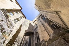 Popes Palace in Avignon, France. World famous popes palace in Avignon, France Stock Photo