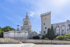 Popes Palace in Avignon, France. World famous popes palace in Avignon, France Royalty Free Stock Photos