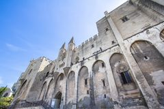 Popes Palace in Avignon, France. World famous popes palace in Avignon, France Stock Photos