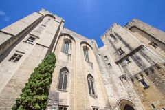 Popes Palace in Avignon, France. World famous popes palace in Avignon, France Royalty Free Stock Images