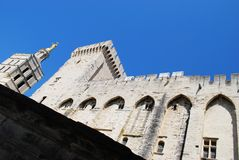Popes Palace in Avignon Royalty Free Stock Photo