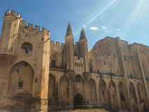 Popes palace in Avignon Palais des Papes Stock Photo