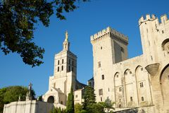 Popes Palace in Avignon. Provence, France Stock Photos