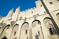 Popes Palace in Avignon. Provence, France Royalty Free Stock Photography