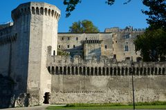 Popes Palace in Avignon. Provence, France Royalty Free Stock Image