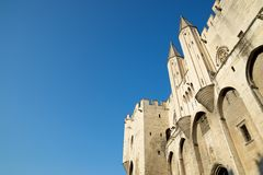 Popes Palace in Avignon Stock Photography