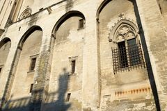 Popes Palace in Avignon. Provence, France Royalty Free Stock Photo