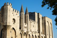 Popes Palace in Avignon. Provence, France Stock Image