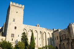 Popes Palace in Avignon. Provence, France Stock Photography