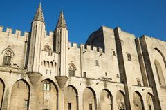 Popes Palace in Avignon. Provence, France Stock Photo