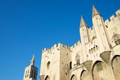 Popes Palace in Avignon. Provence, France Stock Images