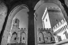 Popes Palace in Avignon, Provence. France Stock Photos