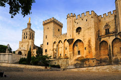 Popes Palace. Of Avignon, UNESCO world heritage site  in Southern France Royalty Free Stock Photos