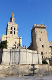 Popes' Palace of Avignon Stock Photography