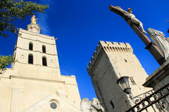 Popes Palace in AVigon, France. The Popes Palace in Avignon, UNESCO World Heritage Site, Popes Palace square Royalty Free Stock Photo