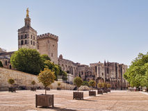 Popesna Slott i Avignon, Frankrike Arkivfoto