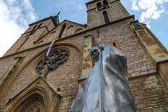 popestaty för ii john paul royaltyfri foto
